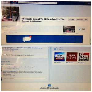 Boston Bombing FB page 2 days before
