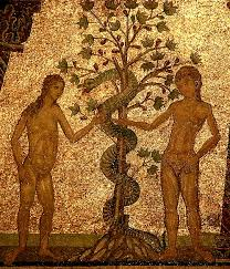 Adam & Eve encounter the serpent