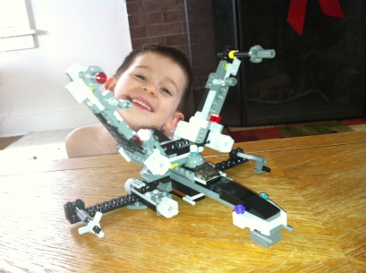 Aidyn and his X-Wing Lego